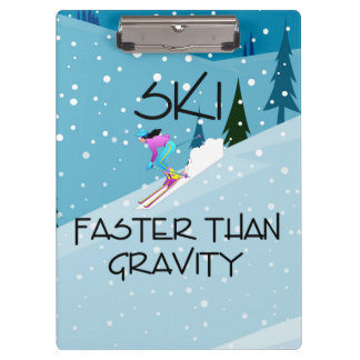TOP Ski Faster Clipboard