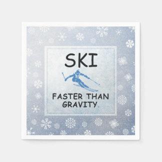 TOP Ski Faster Napkin