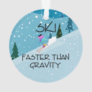 TOP Ski Faster Ornament
