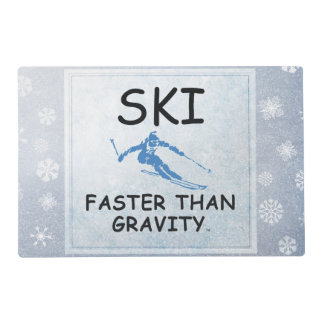 TOP Ski Faster Placemat