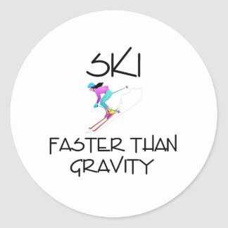 TOP Ski Faster Stickers
