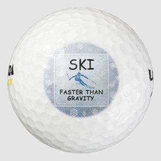 TOP Ski Faster Than Gravity Golf Balls