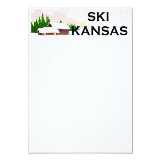 TOP Ski Kansas 5x7 Paper Invitation Card
