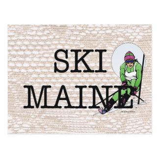 TOP Ski Maine Postcard