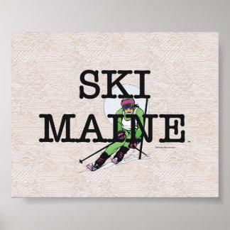 TOP Ski Maine Poster