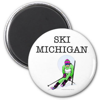 TOP Ski Michigan 2 Inch Round Magnet