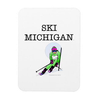 TOP Ski Michigan Vinyl Magnet