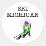 TOP Ski Michigan Round Sticker