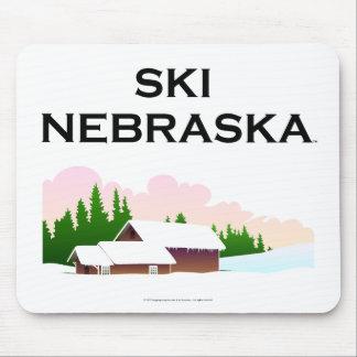 TOP Ski Nebraska Mousepad