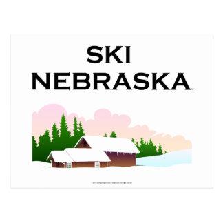 TOP Ski Nebraska Postcard