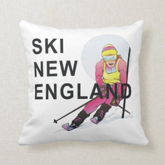 TOP Ski New England Throw Pillow