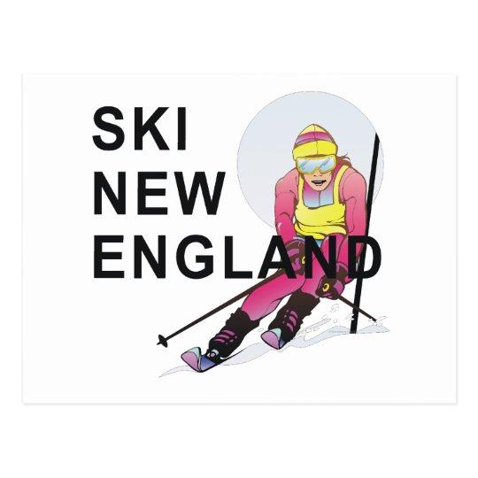 TOP Ski New England Postcard