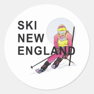 TOP Ski New England Round Stickers