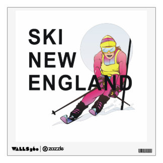 TOP Ski New England Wall Sticker