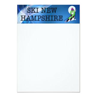 "TOP Ski New Hampshire 5"" X 7"" Invitation Card"