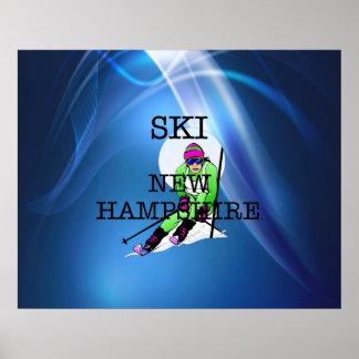 TOP Ski New Hampshire Poster