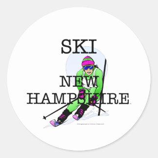 TOP Ski New Hampshire Round Sticker