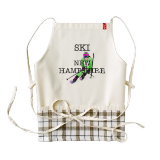 TOP Ski New Hampshire Zazzle HEART Apron