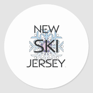 TOP Ski New Jersey Classic Round Sticker