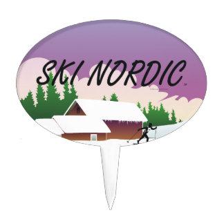TOP Ski Nordic Cake Pick