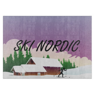 TOP Ski Nordic Cutting Board