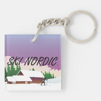 TOP Ski Nordic Keychain