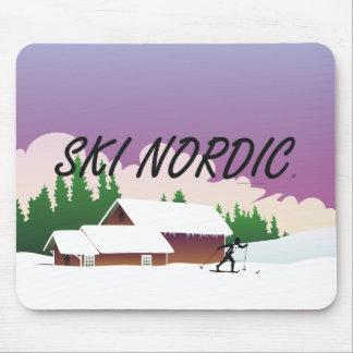 TOP Ski Nordic Mouse Pad