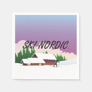 TOP Ski Nordic Paper Napkin