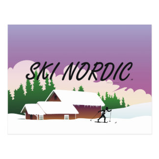 TOP Ski Nordic Postcard