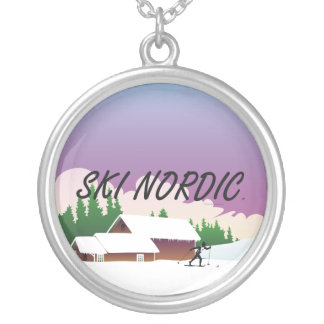 TOP Ski Nordic Silver Plated Necklace