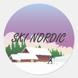 TOP Ski Nordic Classic Round Sticker