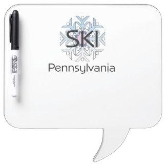 TOP Ski Pennsylvania Dry-Erase Board