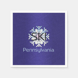 TOP Ski Pennsylvania Paper Napkin