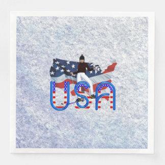 TOP Ski USA Paper Dinner Napkin