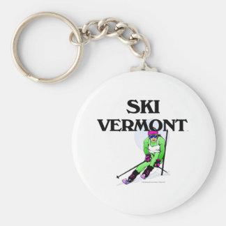 TOP Ski Vermont Keychain