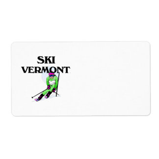 TOP Ski Vermont Label