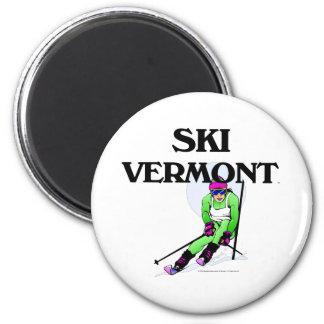 TOP Ski Vermont Refrigerator Magnet