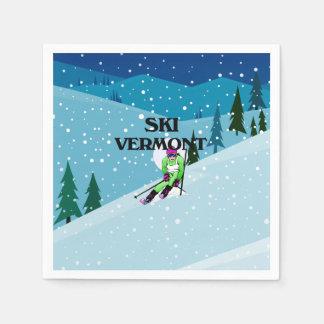 TOP Ski Vermont Paper Napkin