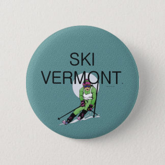 TOP Ski Vermont Pinback Button