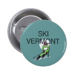 TOP Ski Vermont Pinback Button