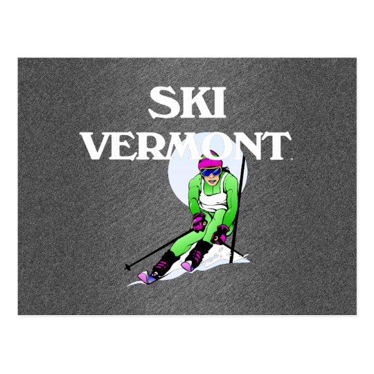 TOP Ski Vermont Postcard