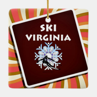 TOP Ski Virginia Ceramic Ornament