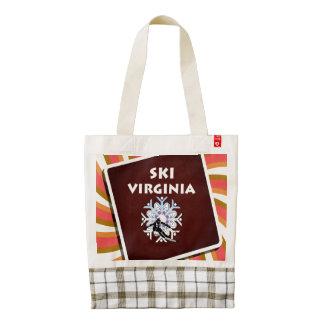 TOP Ski Virginia Zazzle HEART Tote Bag