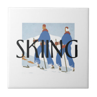 TOP Skiing Ceramic Tile