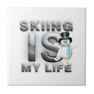 TOP Skiing is My Life Ceramic Tile