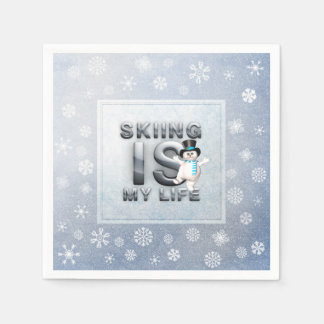 TOP Skiing is My Life Paper Napkin