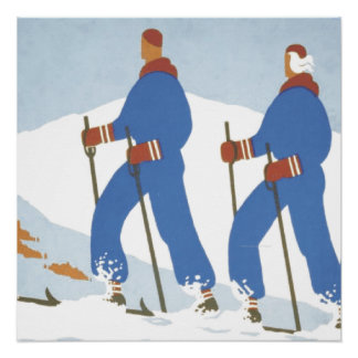 TOP Skiing Poster