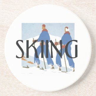 TOP Skiing Sandstone Coaster