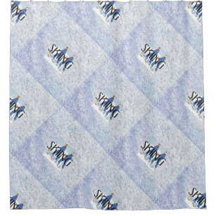 TOP Skiing Shower Curtain