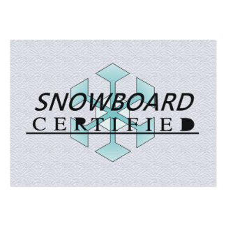 TOP Snowboard Certified Large Business Card
